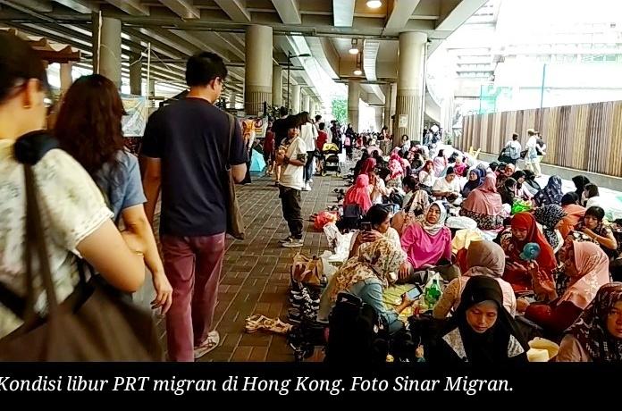 70,6 persen pekerja rumah tangga asing di Hong Kong bekerja lebih dari 13 jam sehari