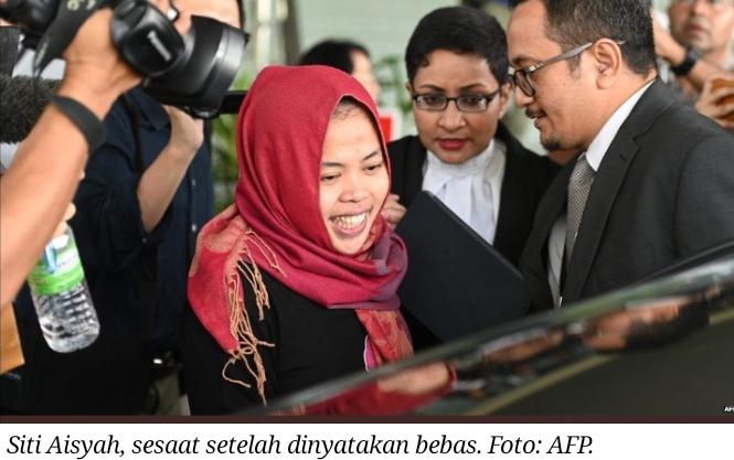 Siti Aisyah bebas dari tuduhan pembunuhan Kim Jong-nam, kakak tiri pemimpin Korea Utara Kim Jong-un