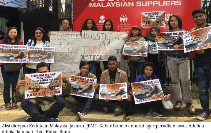 Kasus Adelina: JBMI dan Kabar Bumi demo Kedutaan Malaysia tuntut hukum berat majikan dan sahkan undang-undang perlindungan PRT di Malaysia