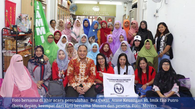 MOVERS Indonesia gelar penyuluhan bea dan cukai untuk BMI Hong Kong