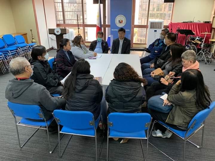 134 kelompok termasuk  organisasi pekerja migran di Hong Kong datangi konsul Filipina minta larangan terbang dicabut