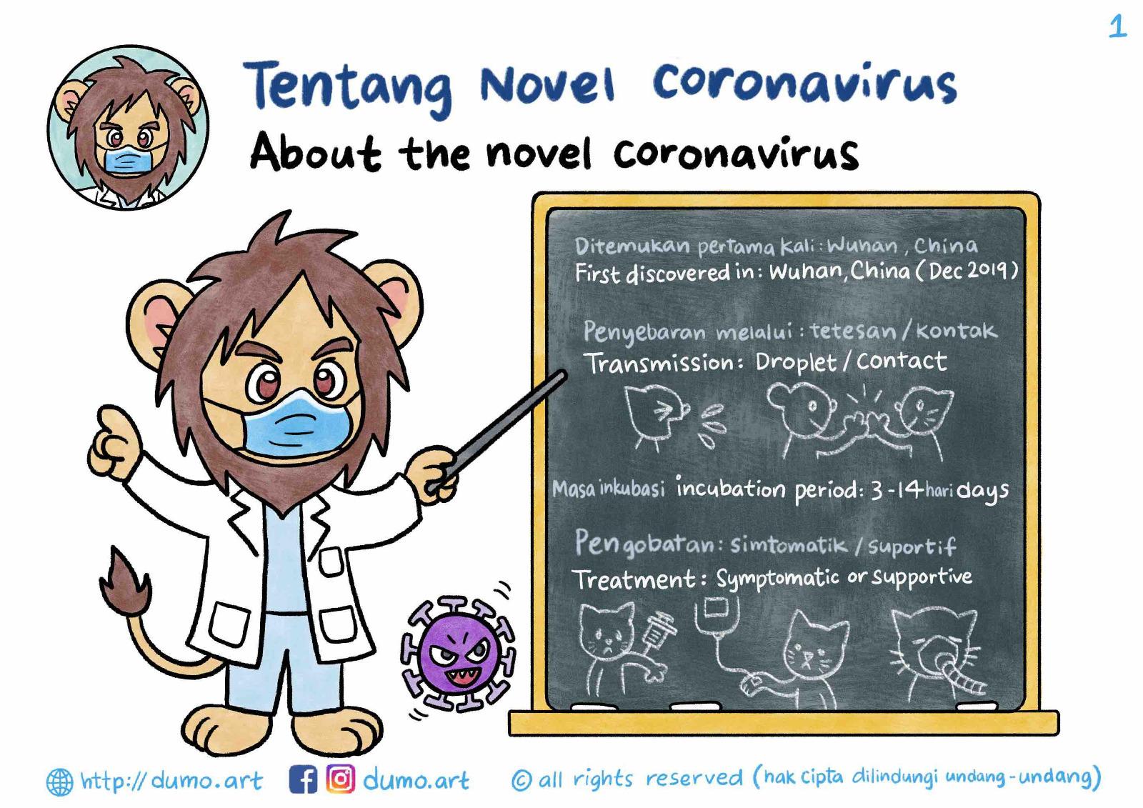 Penjelasan menarik berbentuk kartun tentang Virus Corona baru